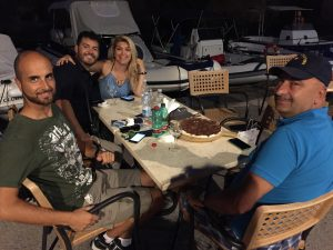 Antonio, Tony, Anastasia and the Commander with a Nutella Pizza....